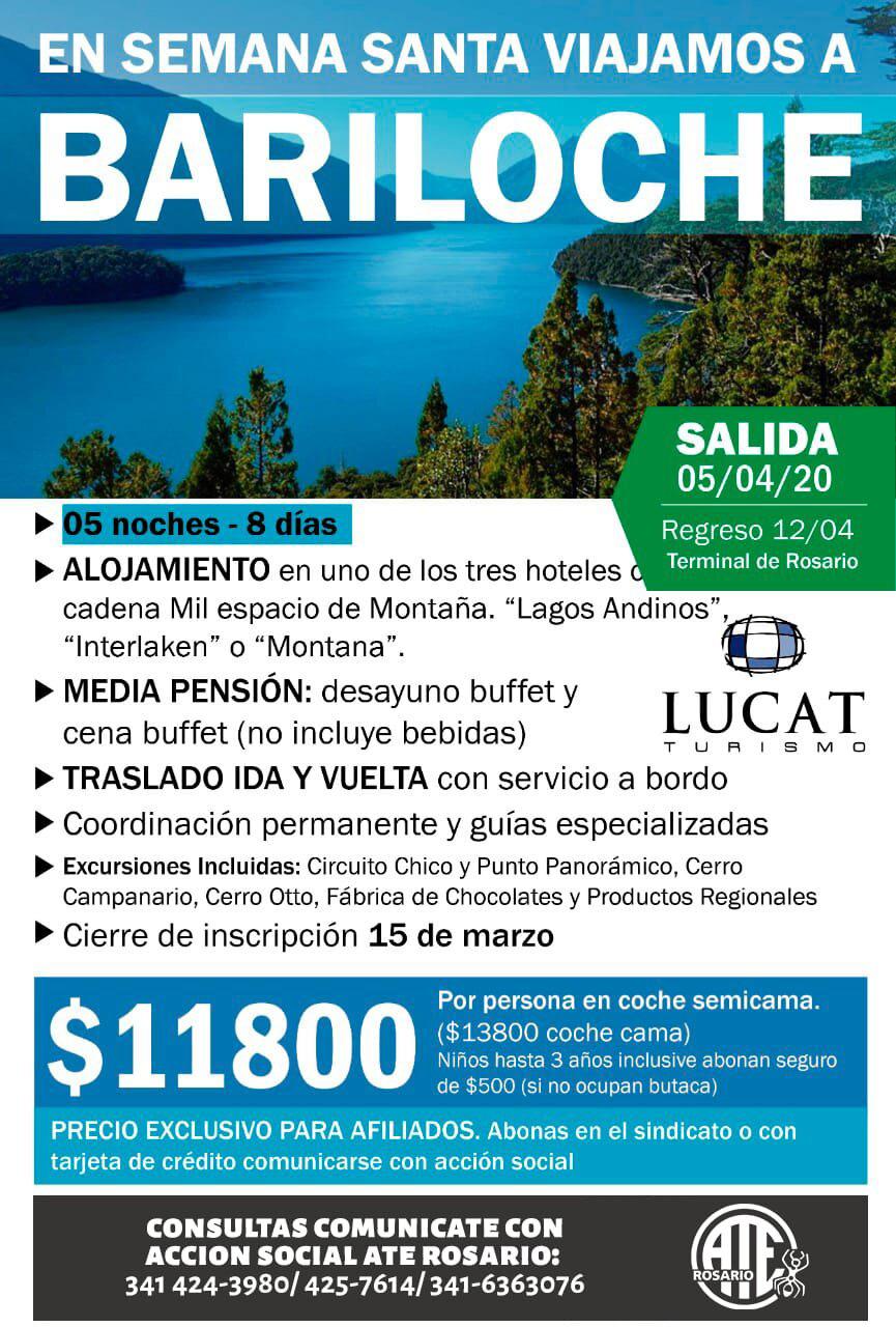 En semana santa viajamos a Bariloche